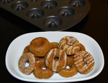pumpkin dog treat donuts