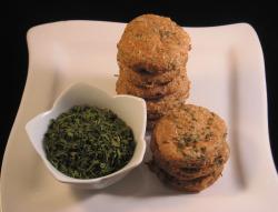homemade dog treats with parsley