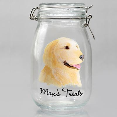 Hand Painted Dog Treat Jar