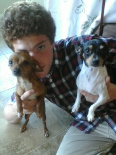our doggies and our youngest son